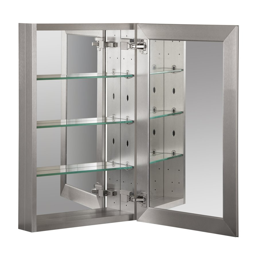 Foremost 19 Quot X 30 Quot Aluminum Medicine Cabinet Brushed