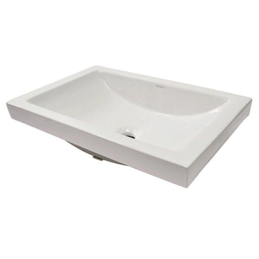 "DECOLAV Breanna 19.29"" x 35.43"" Semi Recessed Sink 14107-CWH"