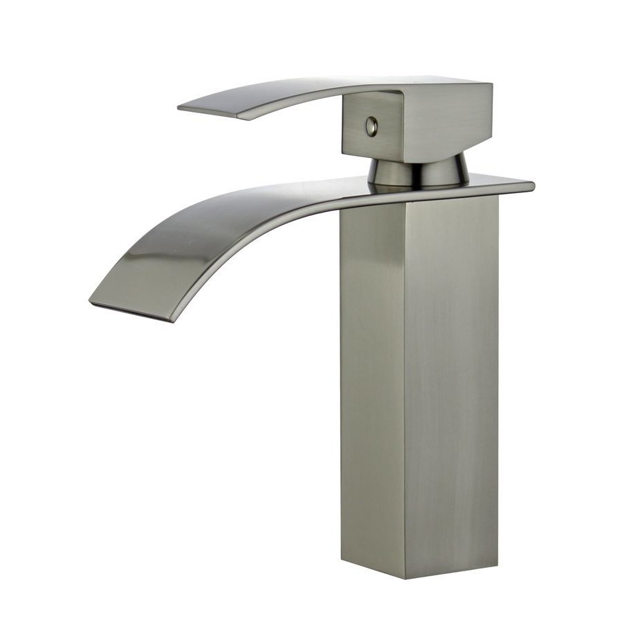 Bellaterra Santiago Bathroom Faucet with Single Handle Lever in Brushed Nickel Finish 10167P4-BN-W