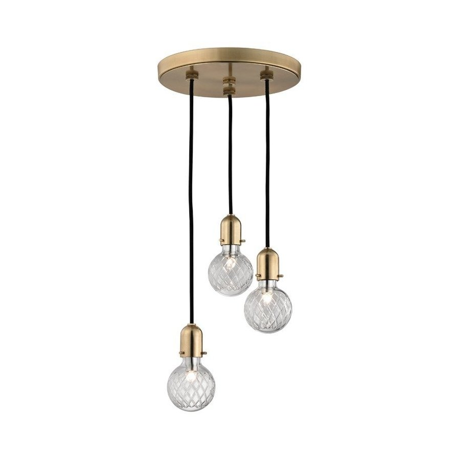 Hudson Valley Marlow 3 Island Pendant - Aged Brass 1103-AGB