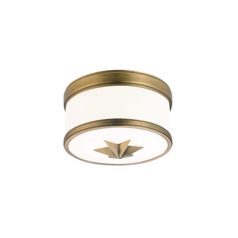 Hudson Valley Seneca 1 Light Flush Mount - Aged Brass 1109-AGB