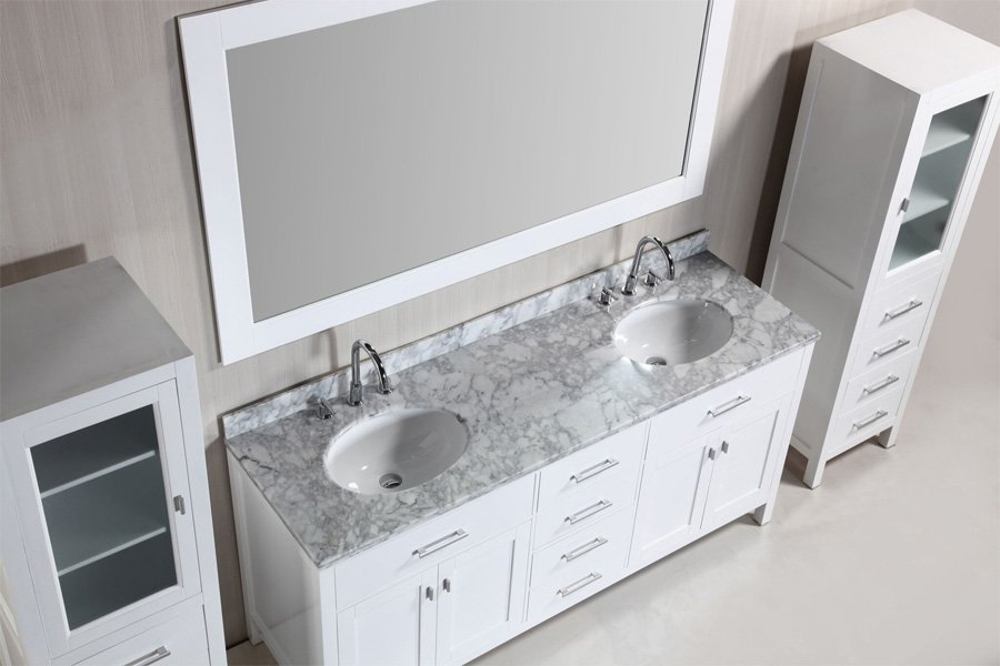 Design Element 72 Quot London Double Sink Bathroom Vanity