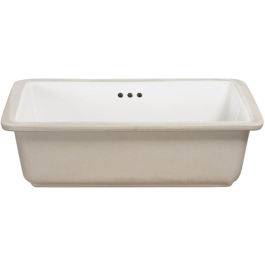 Foremost 17 Inches X 13 Inches Drop-in Porcelain Undermount Sink - White 14-1713-W