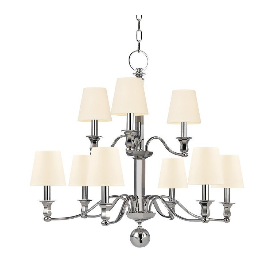 Hudson Valley Charlotte 9 Light Chandelier - Polished Nickel 1419-PN-WS