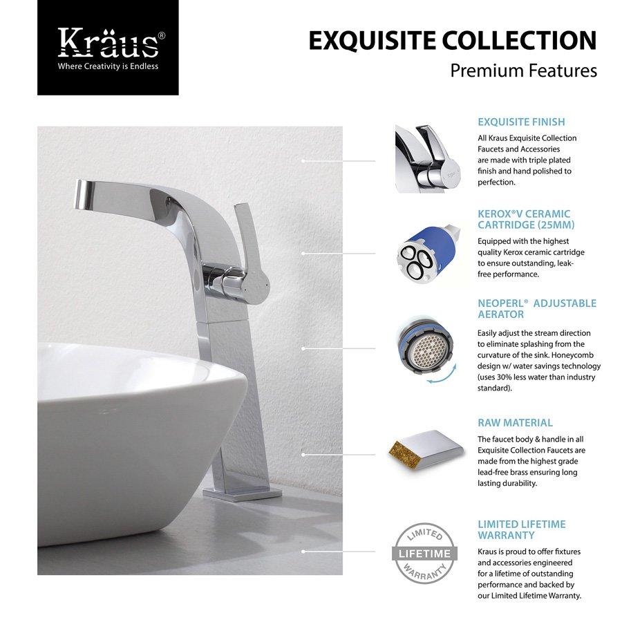 Kraus Typhon Vessel Bathroom Faucet - Chrome KEF-15100CH