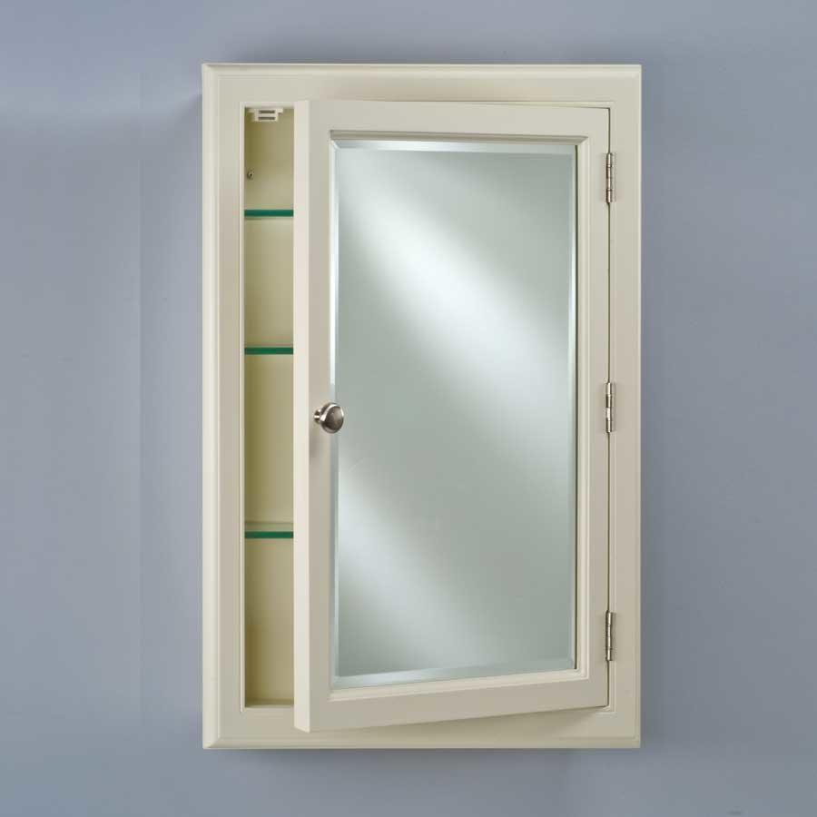 """Afina Devon 22"""" Wall Mount Mirrored Medicine Cabinet - Biscuit DEV1-B-S"""
