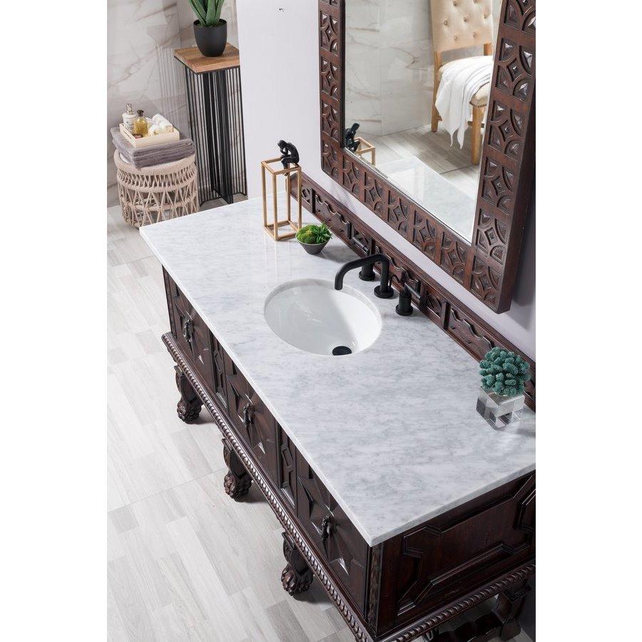 James Martin 60 Inch Balmoral Single Sink Vanity With Carrara