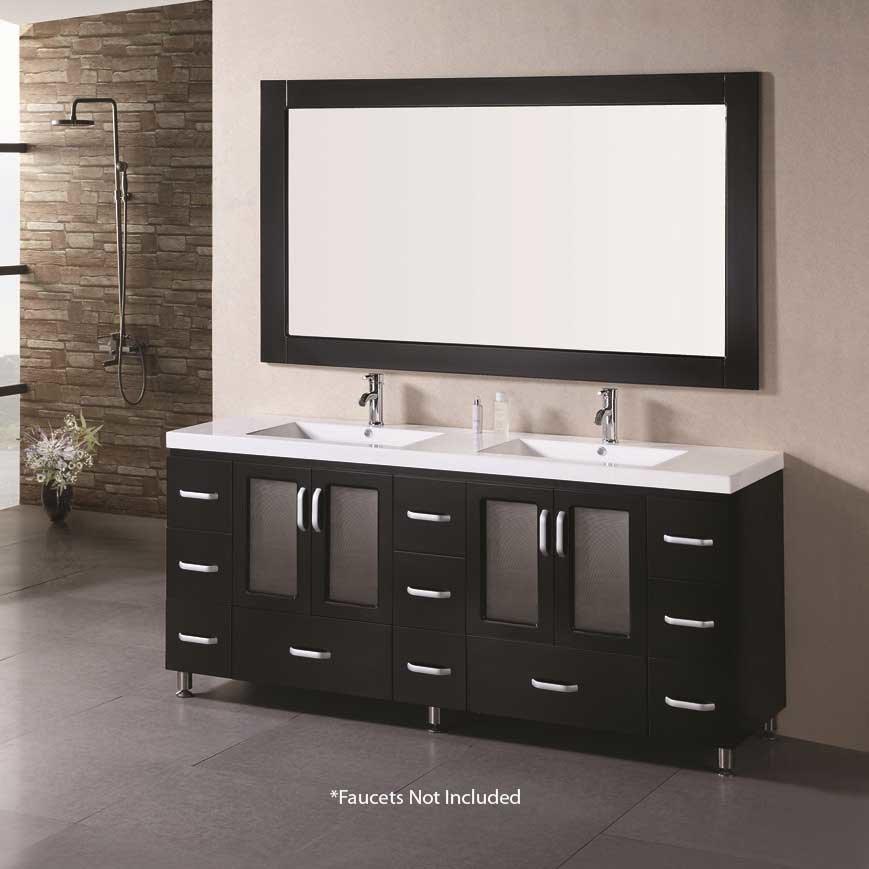 Design Element 72 Quot Stanton Double Sink Bathroom Vanity