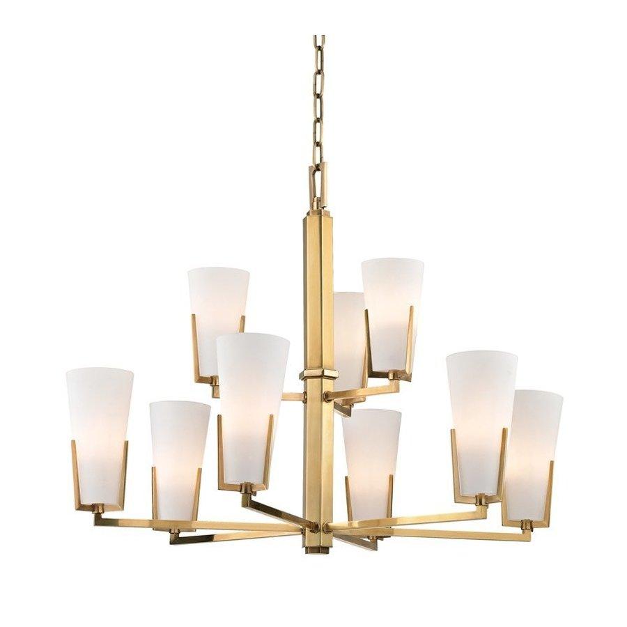 Hudson Valley Upton 9 Light Chandelier - Aged Brass 1809-AGB