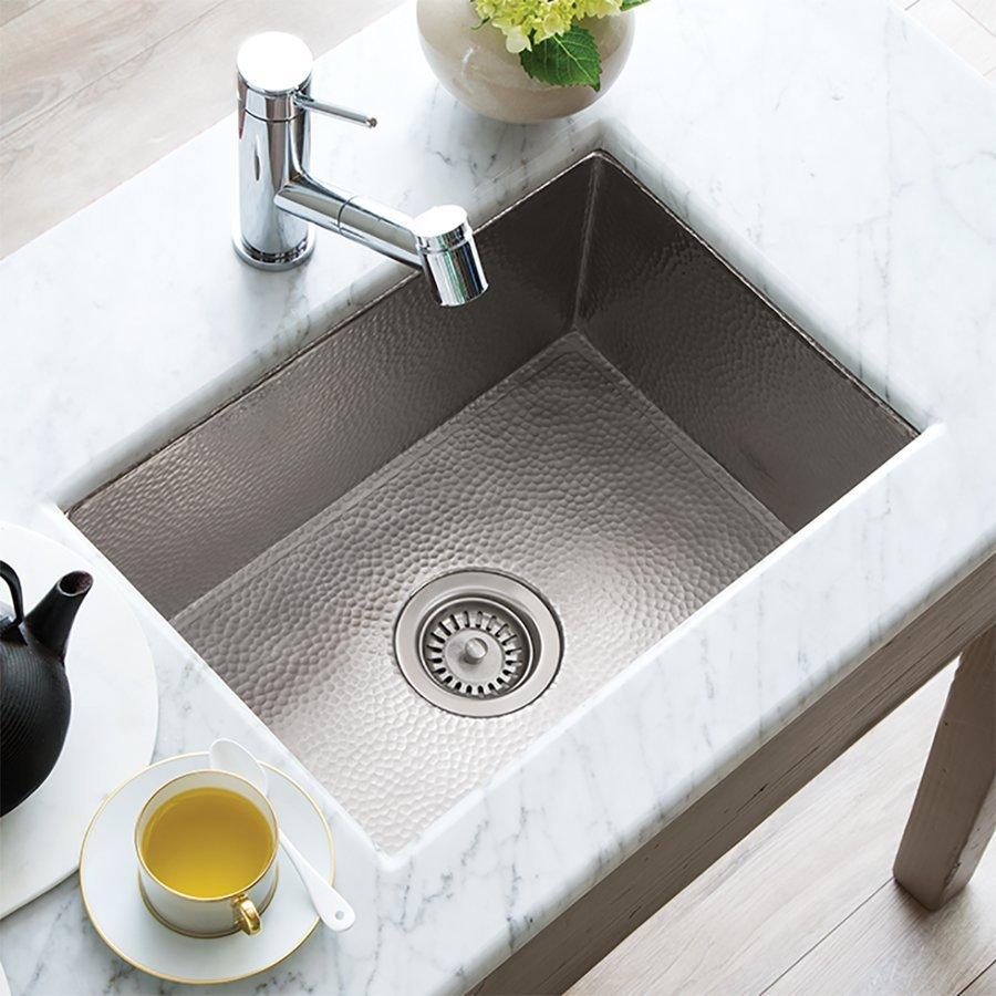 """Native Trails 21"""" x 16"""" Cocina Undermount Kitchen Sink - Brushed Nickel CPK578"""
