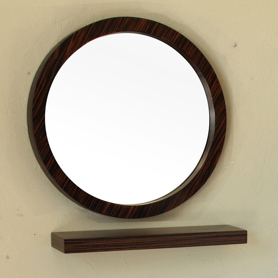 "Bellaterra 21"" x 21"" Wall Mount Mirror - Ebony/Zebra 804338-MIRROR"