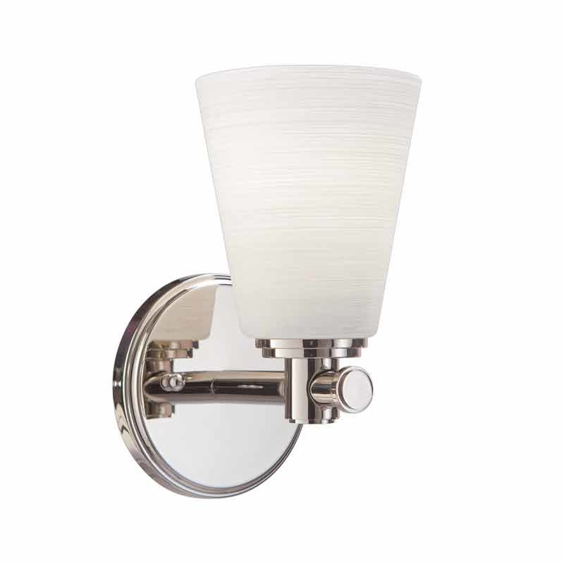 Hudson Valley Garland 1 Light Bathroom Sconce - Polished Nickel 1841-PN
