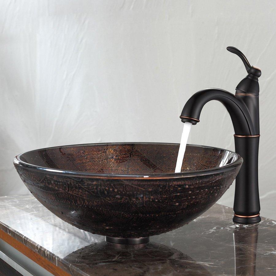 Kraus Riviera Vessel Bathroom Faucet - Oil Rubbed Bronze FVS-1005ORB ...