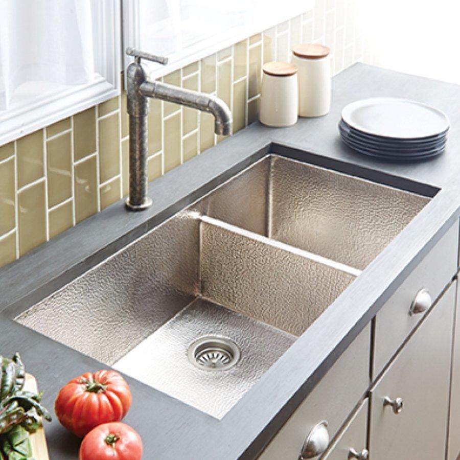 """Native Trails 40"""" x 22"""" Cocina Undermount Kitchen Sink - Brushed Nickel CPK577"""