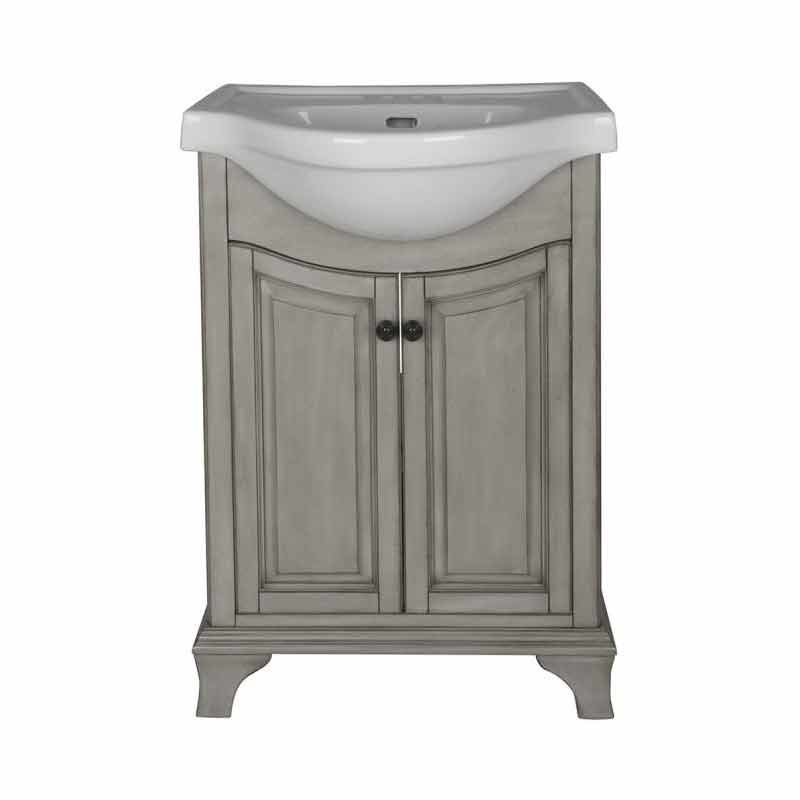 "Foremost 26"" Corsicana Single Sink Bathroom Vanity - Antique Gray CNAGVT2536"