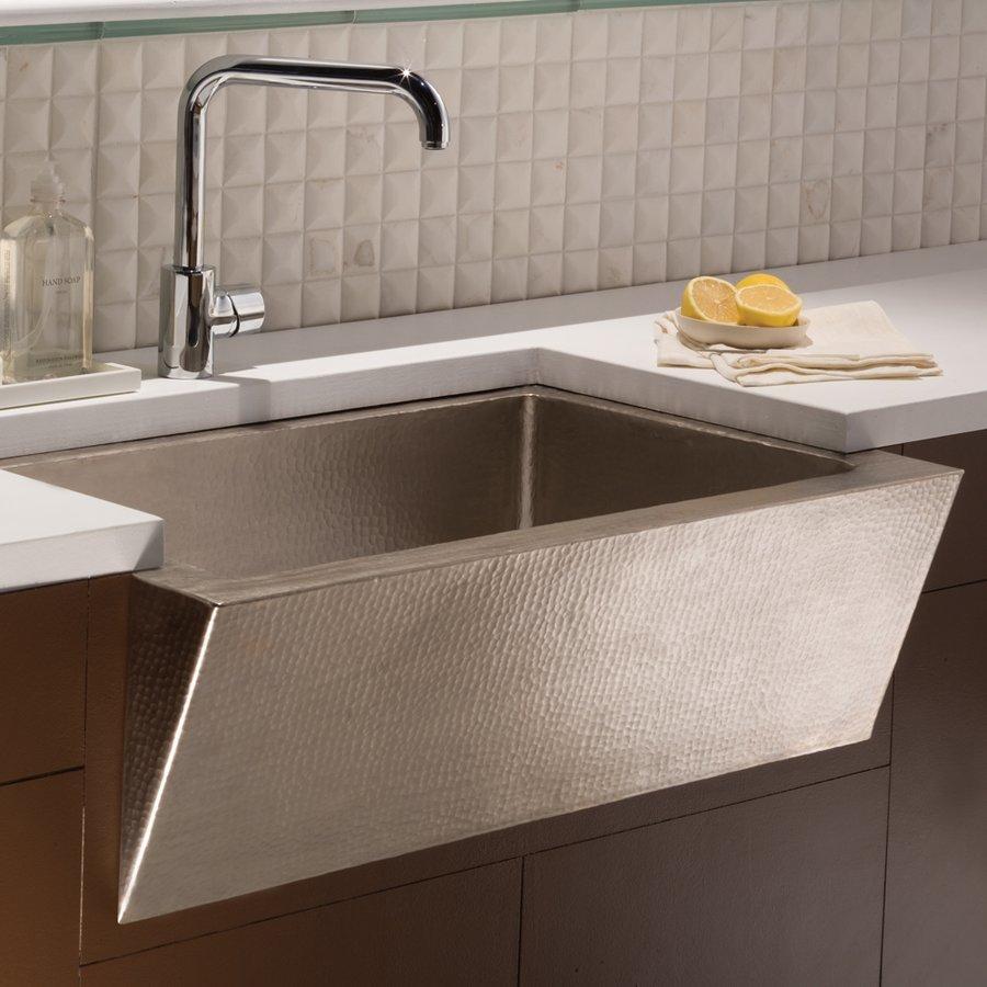 "Native Trails 33"" x 22"" Zuma Farm House Kitchen Sink - Brushed Nickel CPK590"