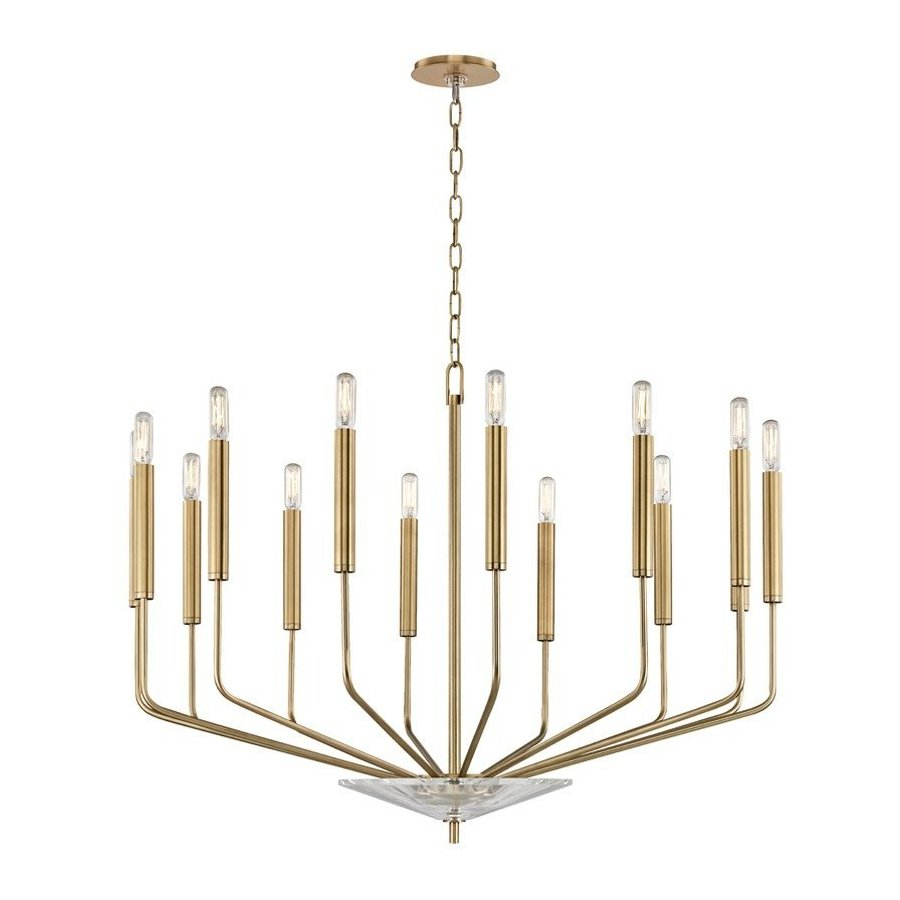 Hudson Valley Gideon 14 Light Chandelier - Aged Brass 2614-AGB