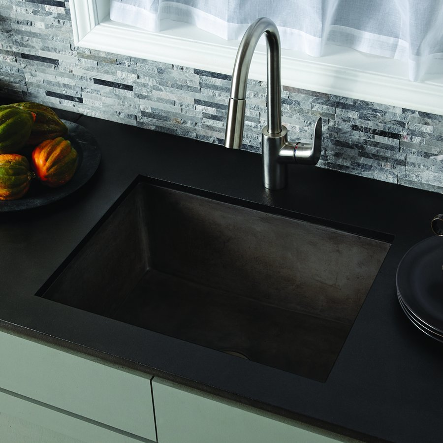 "Native Trails 24"" x 18"" Farmhouse Reversible Kitchen Sink - Slate NSK2418-S"
