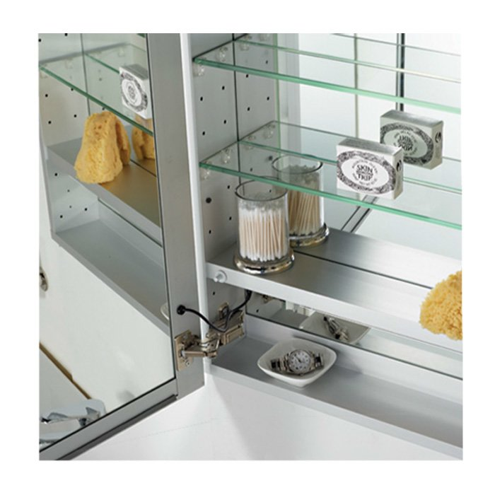 "Afina 30"" x 24"" Illume Backlit Recessed Mirrored Medicine Cabinet I-SD2430-P-R"