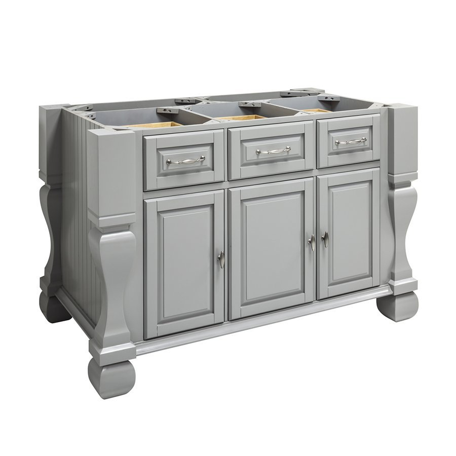 Jeffrey Alexander 53 inch Tuscan Kitchen Island with o Top - Grey ISL01-GRY