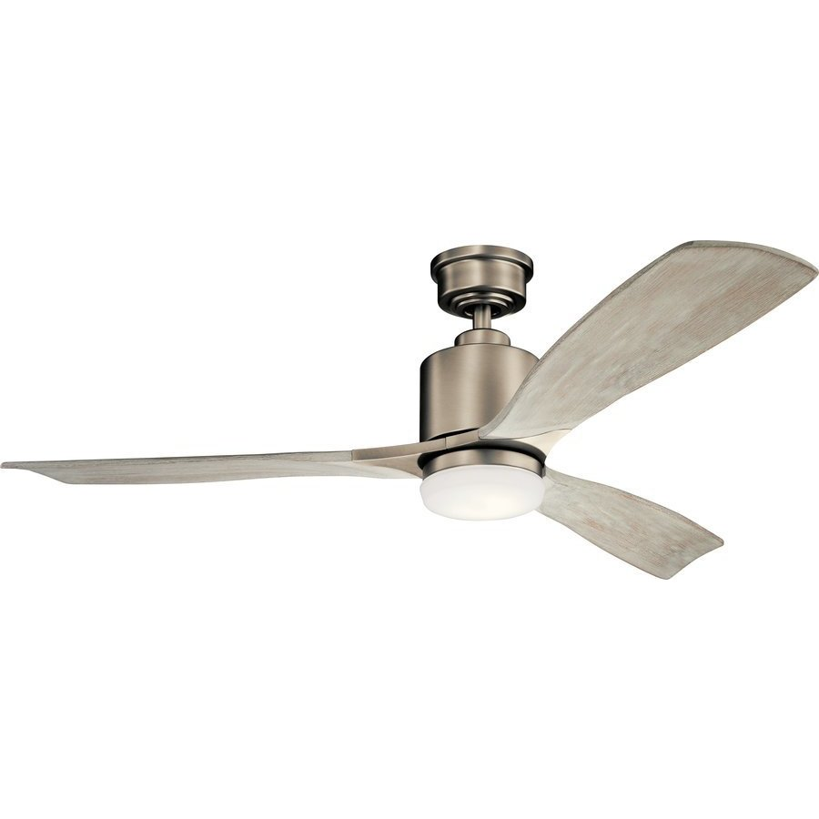 Kichler 52 Inch Ridley II 17W Ceiling Fan - Antique Pewter and Weathered White 300027AP
