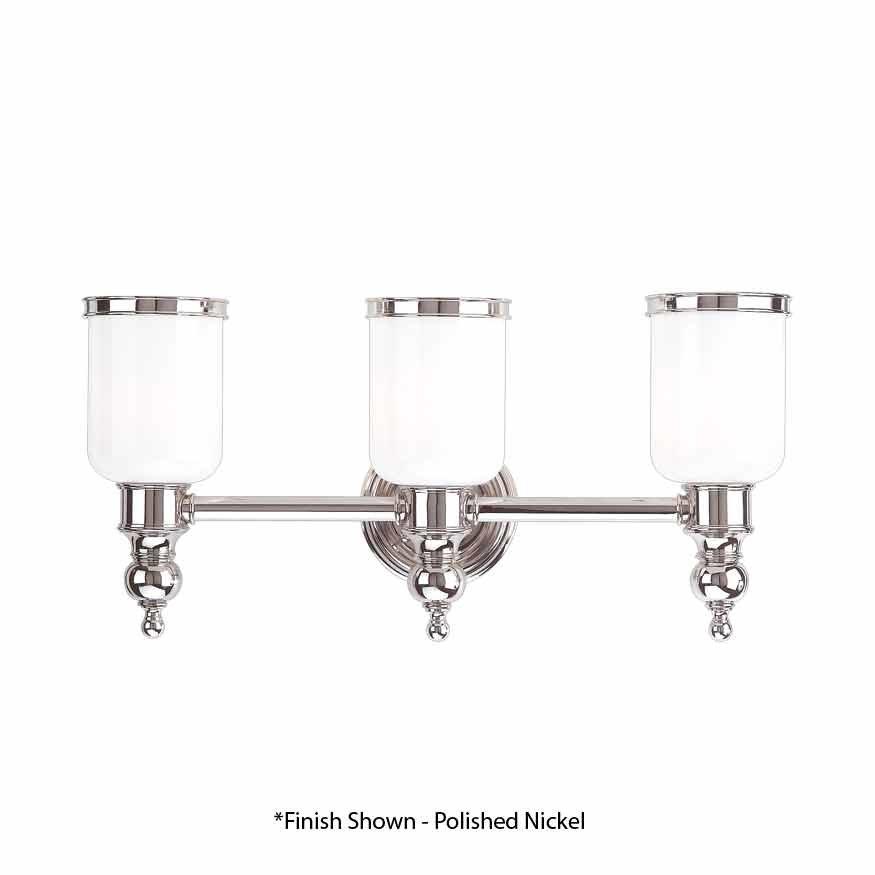 Hudson Valley Chatham 3 Light Bathroom Vanity Light - Antique Nickel 6303-AN