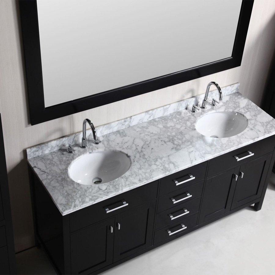 Design element 72 london double sink bathroom vanity combo espresso dec076b cab004x2 j keats - Bathroom vanity and sink combination ...