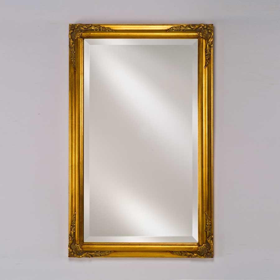 "Afina Estate 16"" Mirror - Antique Gold EC13-1622-GD"