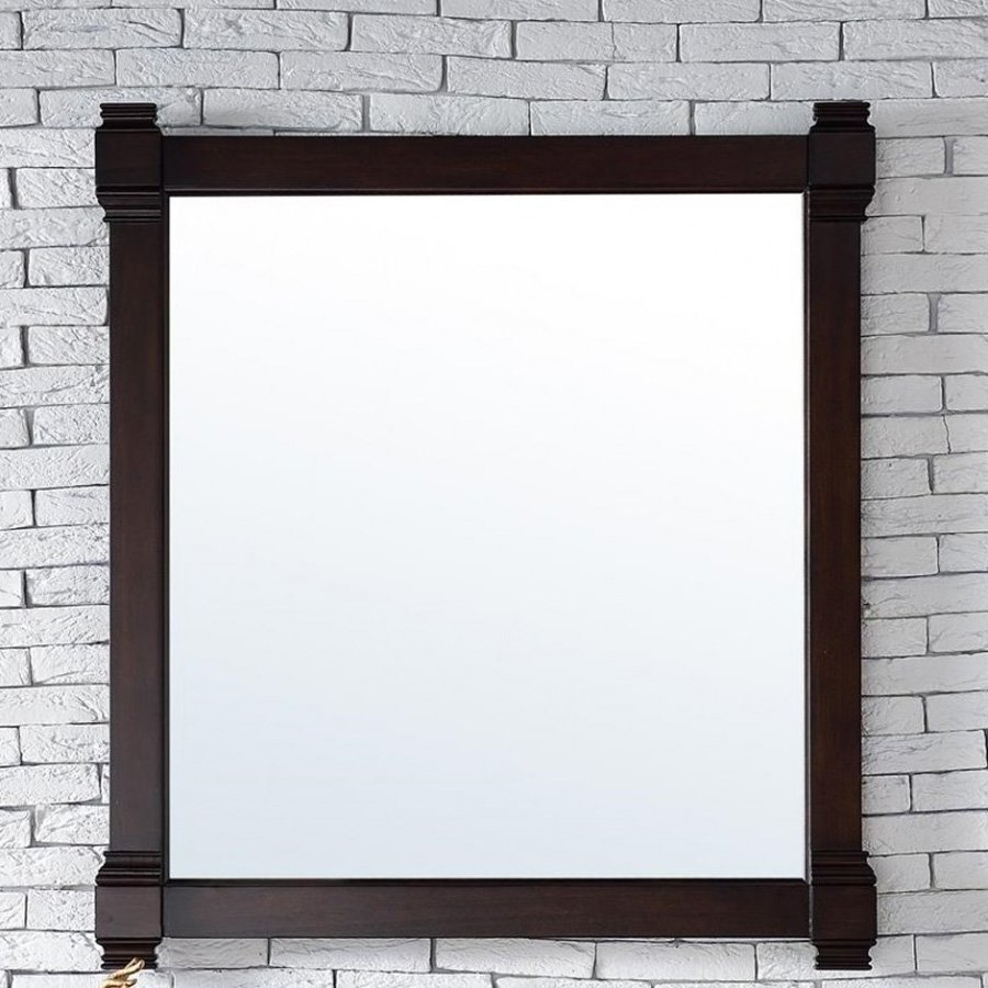 "James Martin 35"" x 40"" Brittany Wall Mount Mirror - Burnished Mahogany 650-M35-BNM"