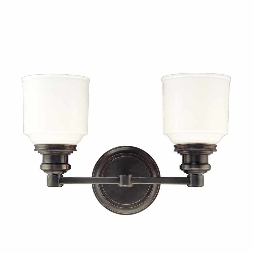 Hudson Valley Windham 2 Light Bathroom Vanity Light - Old Bronze 3402-OB