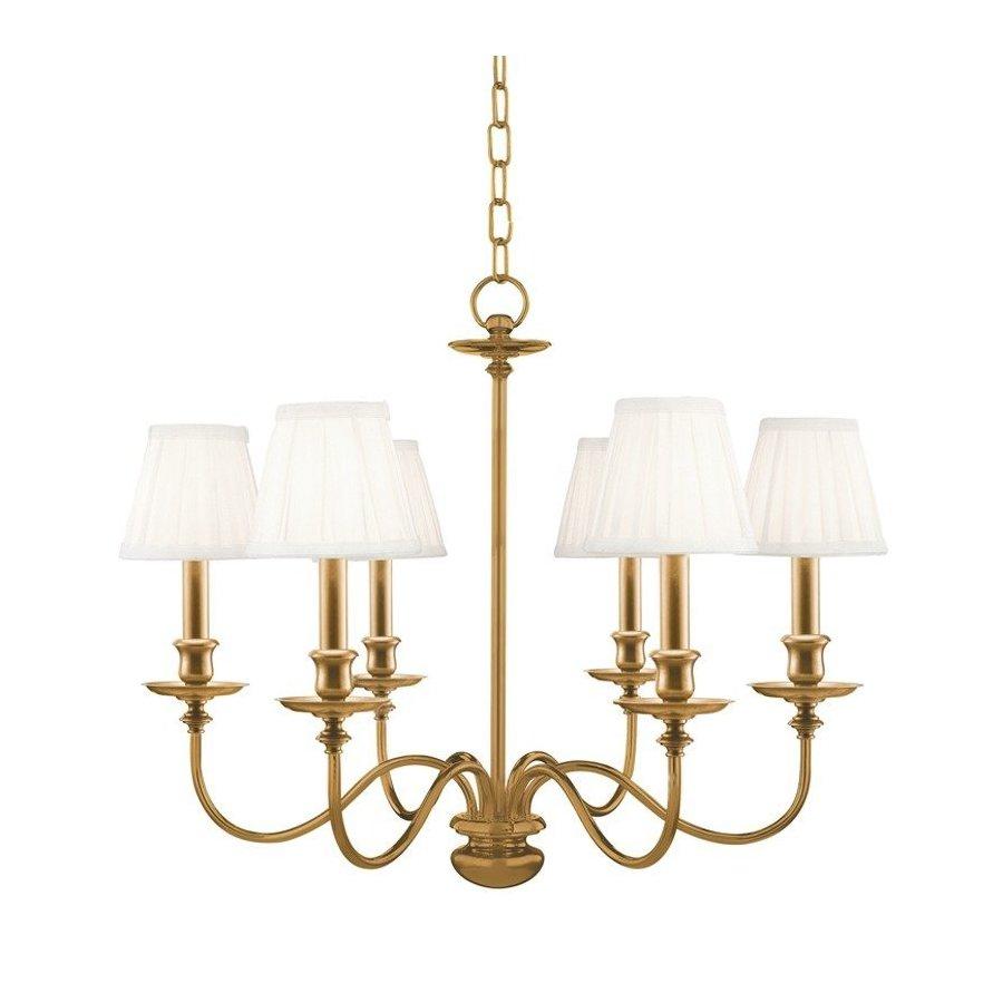 Hudson Valley Menlo Park 6 Light Chandelier - Aged Brass 4036-AGB