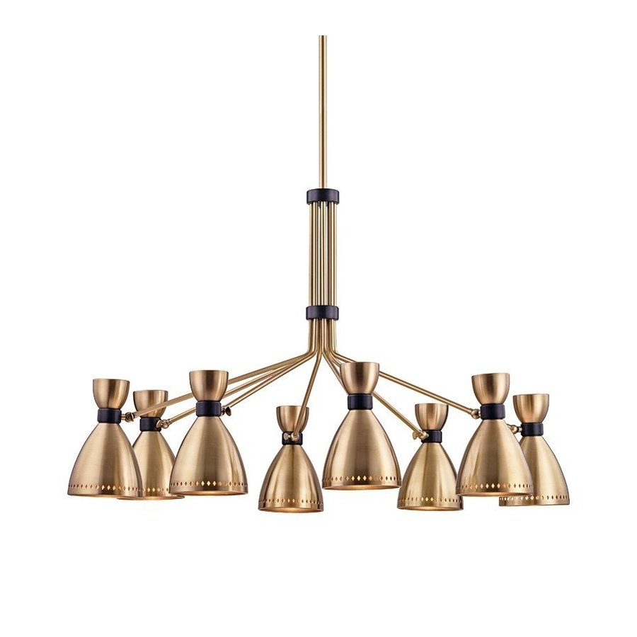 Hudson Valley Solaris 8 Light Chandelier - Aged Brass 4148-AGB