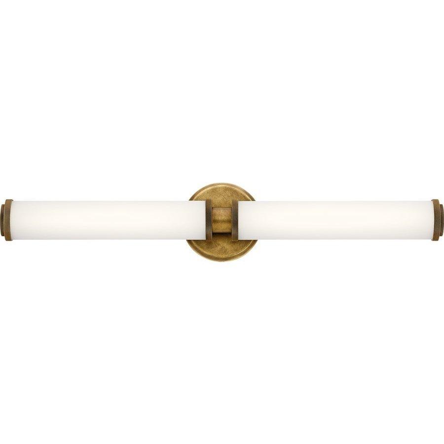 Kichler 27 Inch Indeco 2 Light LED Bath Light - Natural Brass 45685NBRLED