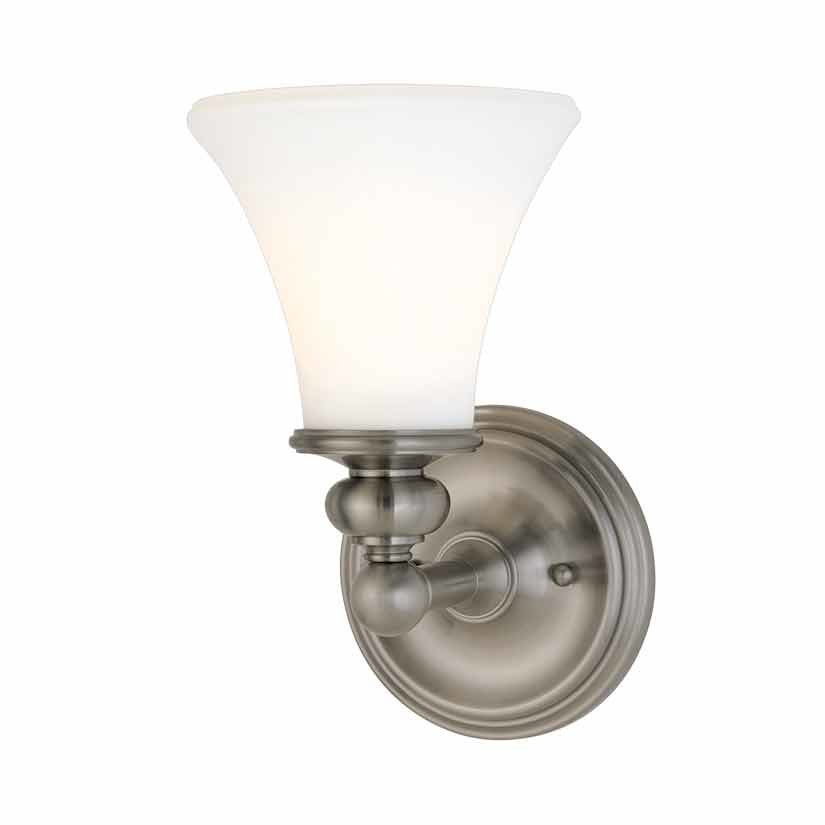 Hudson Valley Weston 1 Light Bathroom Sconce - Polished Nickel 4501-PN