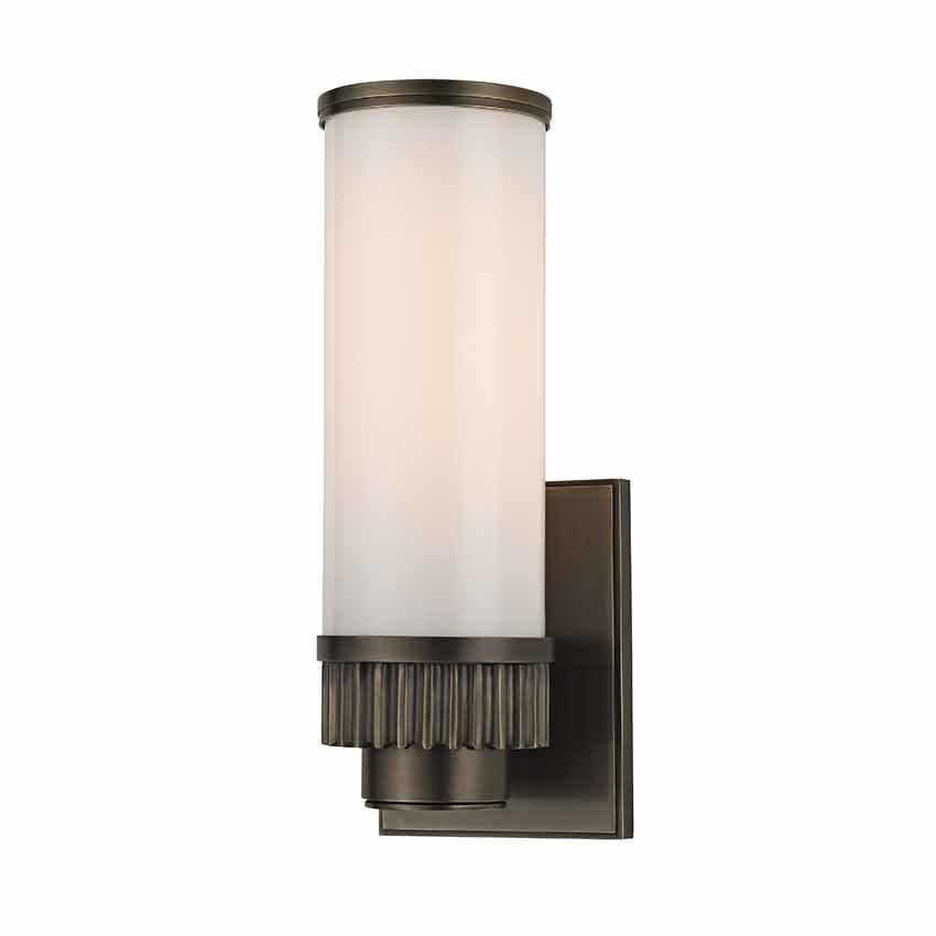 hudson valley harper 1 light bathroom sconce distressed led bulbs for bathroom light bar Bathroom Vanity Light Bars