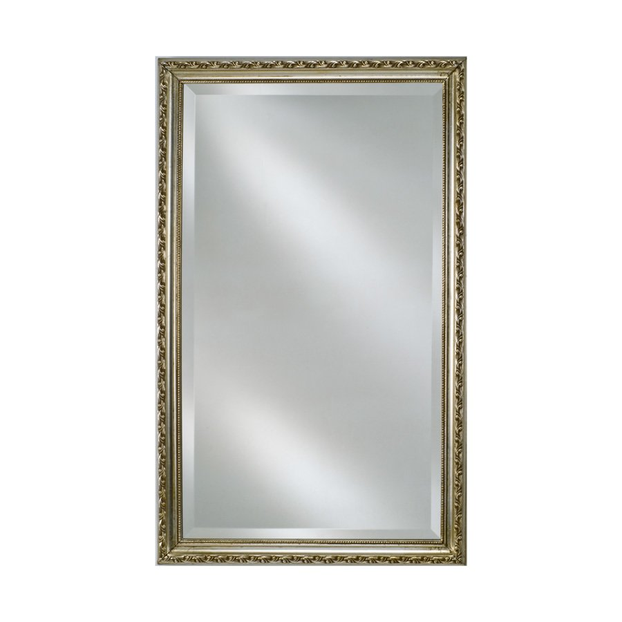 "Afina 30"" x 20"" Estate Wall Mount Mirror - Antique Silver EC10-2030-SV"