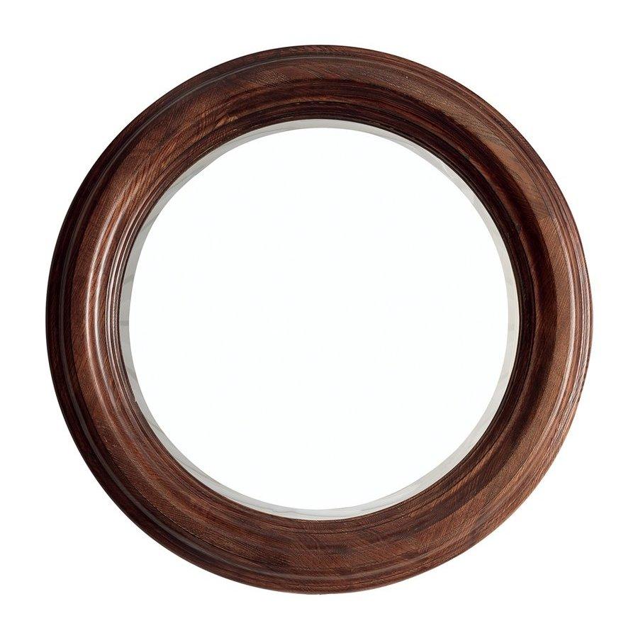 """James Martin 33"""" X 33"""" Victoria Round Mirror Coffe Oak 506-M33-CFO"""