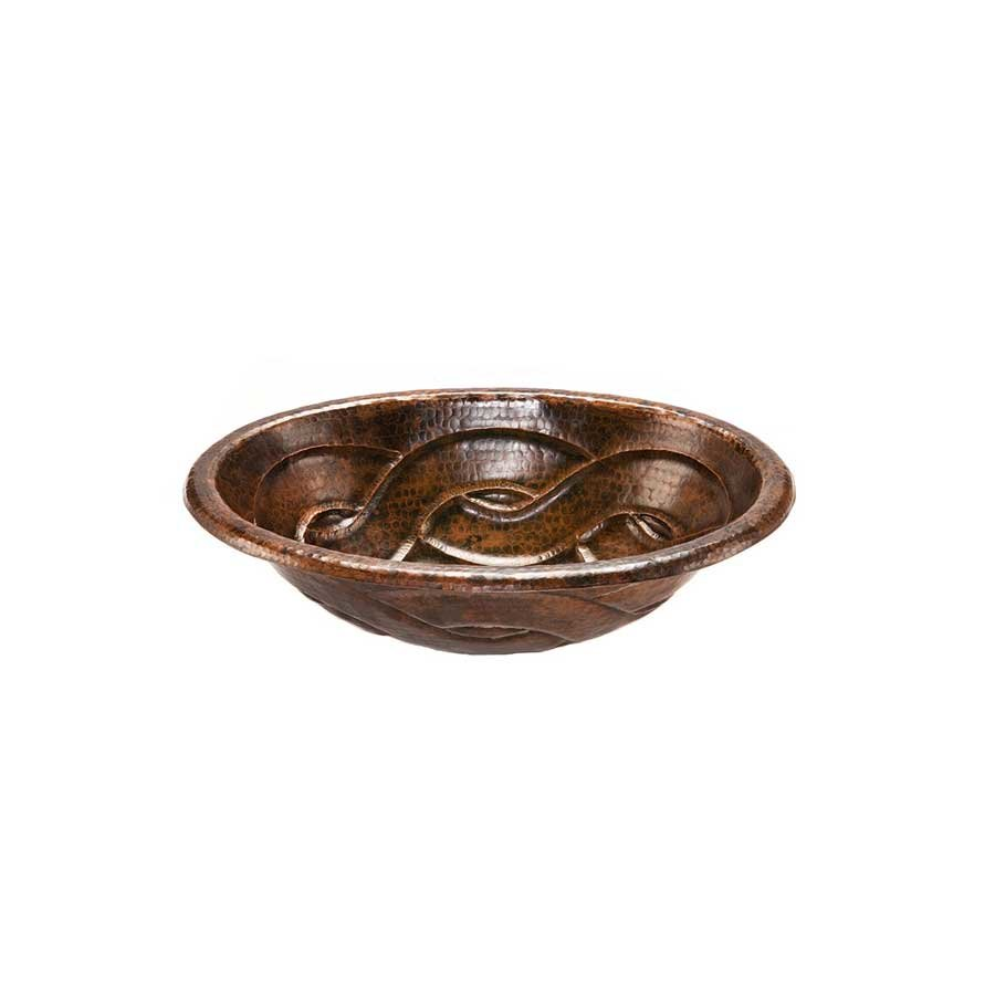 "Premier Copper Products 19"" x 14"" Oval Drop-In Sink Package - Oil Rubbed Bronze LO19RBDDB"