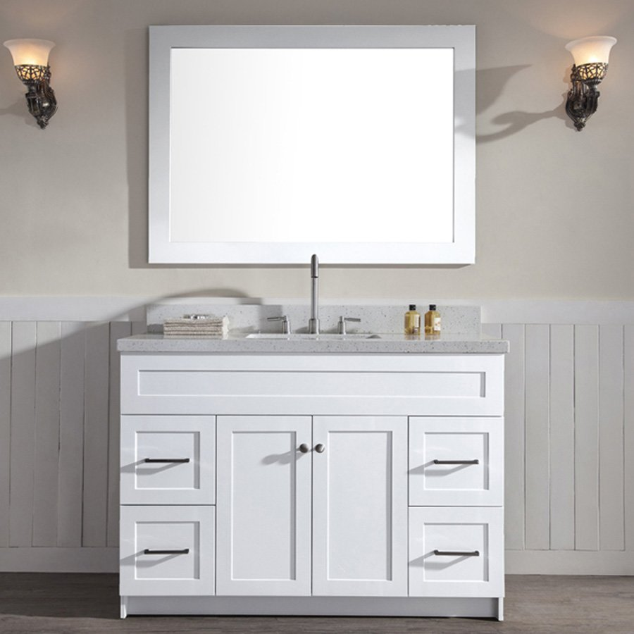 "Ariel Bath 49"" Hamlet Single Sink Vanity w/ White Quartz ..."