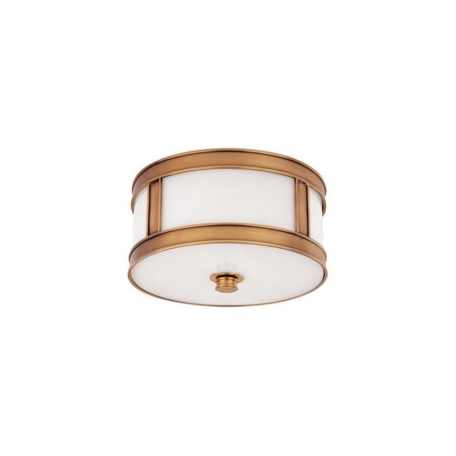 Hudson Valley Patterson 1 Light Flush Mount - Aged Brass 5510-AGB