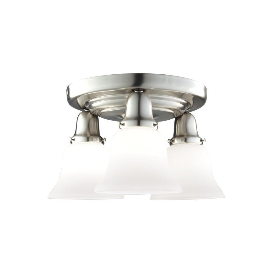 Hudson Valley Edison Collection 3 Light Semi Flush - Satin Nickel 587-SN-341