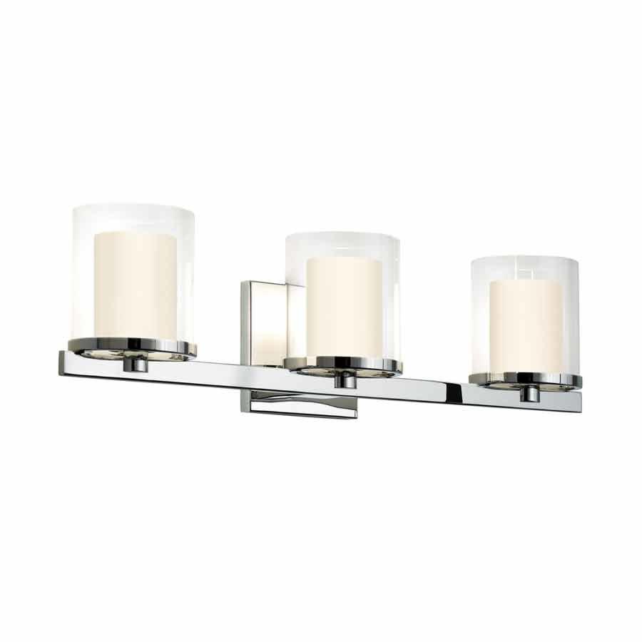 Sonneman Votivo 3 Light Bathroom Vanity Light - Polished Chrome 3413.01