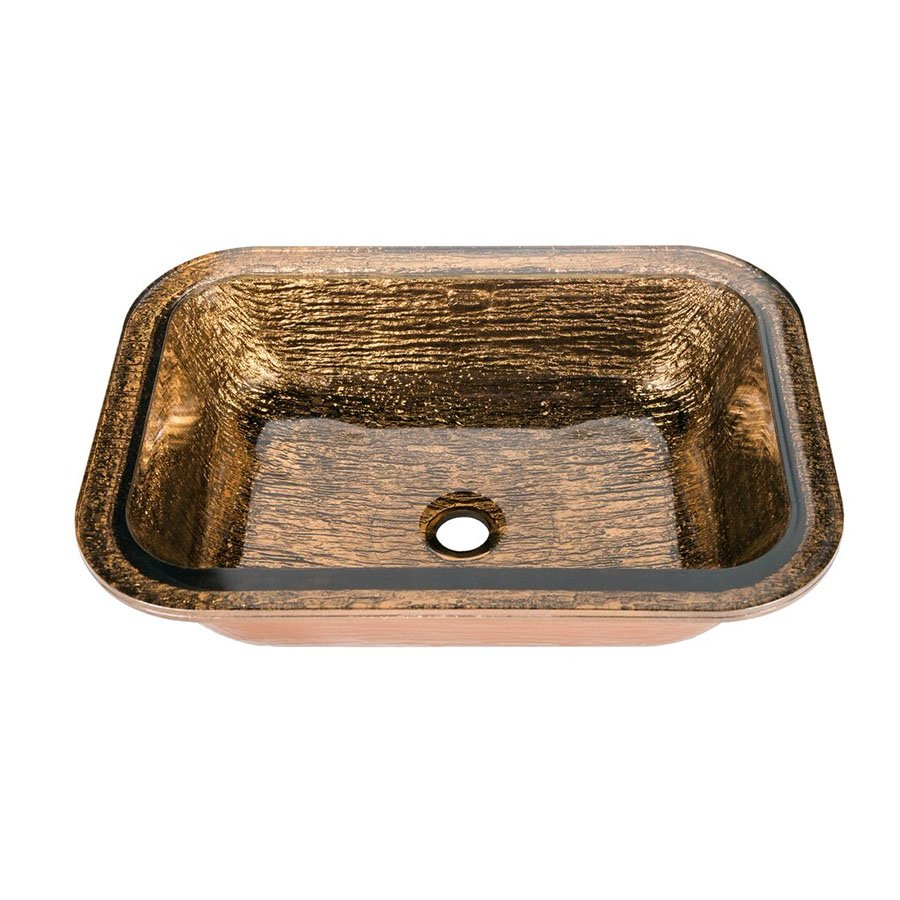 "JSG Oceana 21"" x 15-1/2"" Undermount Bathroom Sink - Copper 007-407-010"