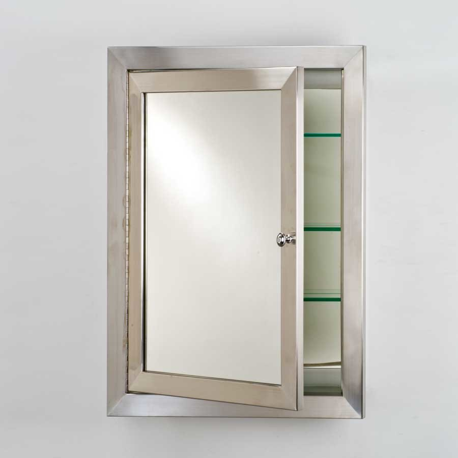 Afina Metro 25 Mirrored Medicine Cabinet Satin Stainless Met S L J Keats
