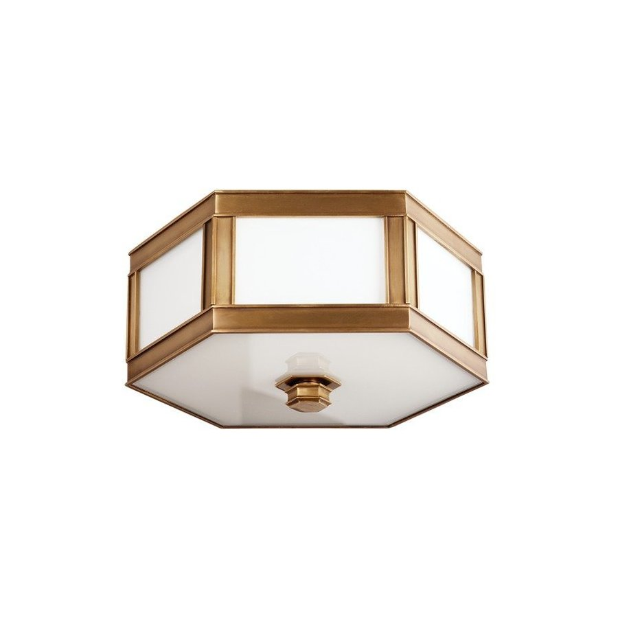 Hudson Valley Nassau 2 Light Flush Mount - Aged Brass 6413-AGB