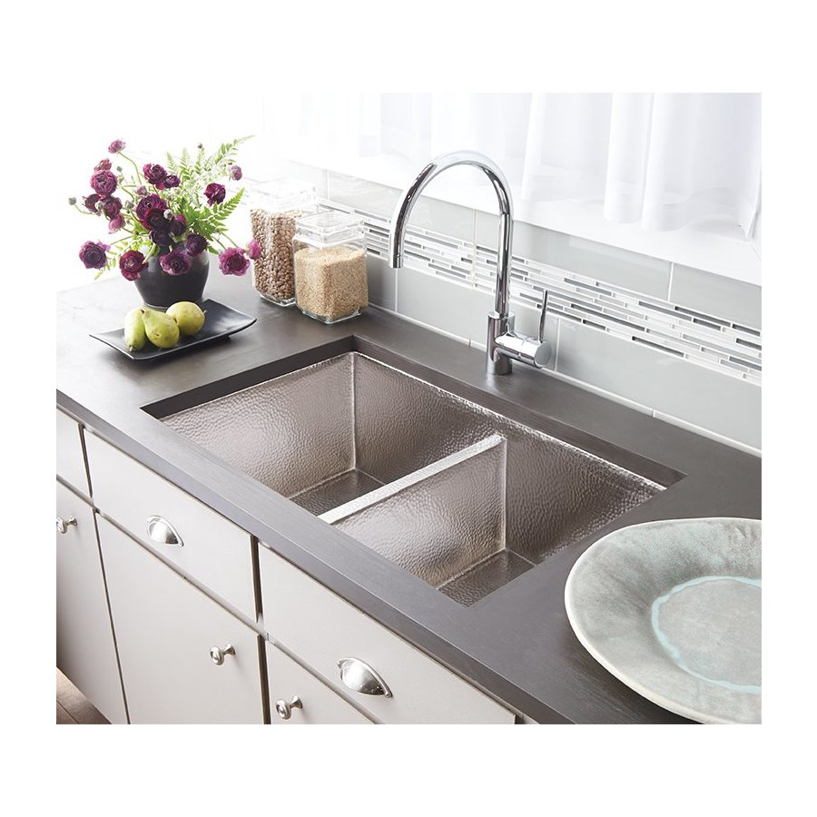 "Native Trails 33"" x 22"" Cocina Undermount Kitchen Sink - Brushed Nickel CPK575"