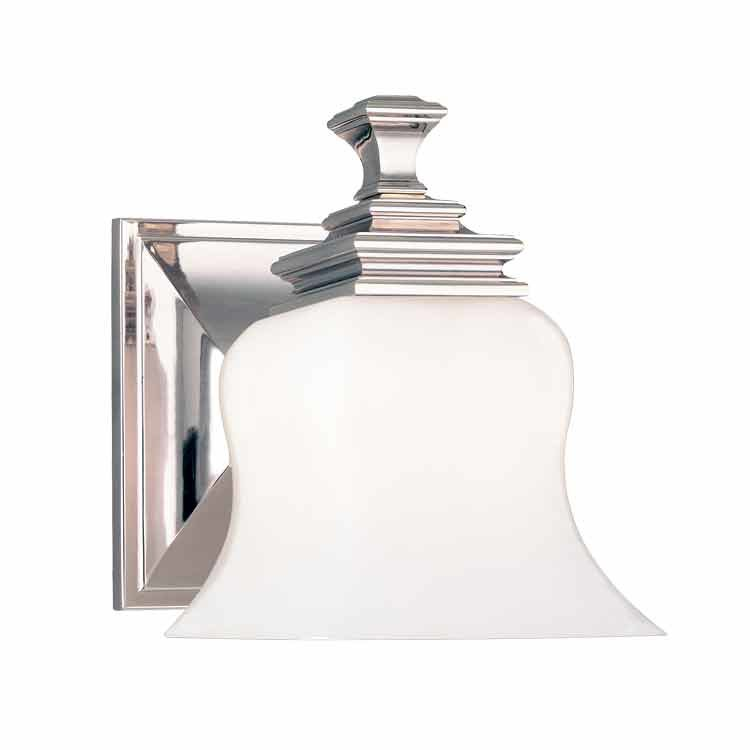 Hudson Valley Wilton 1 Light Bathroom Sconce - Polished Nickel 5501-PN