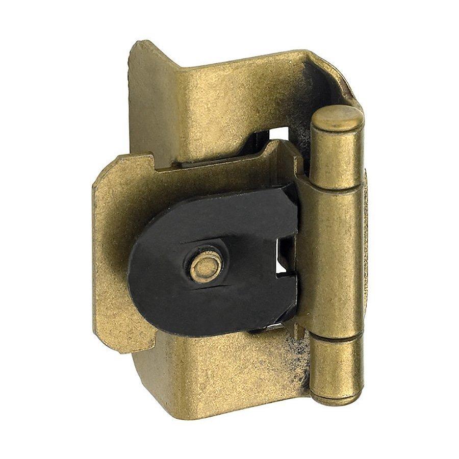 Amerock Double Demountable 1/2 inch Overlay Hinge Burnished Brass- Pair BPR8704BB