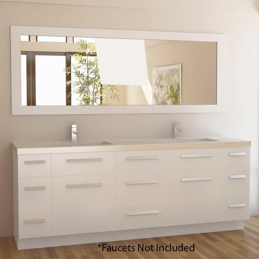 Design element 84 moscony double sink bathroom vanity white