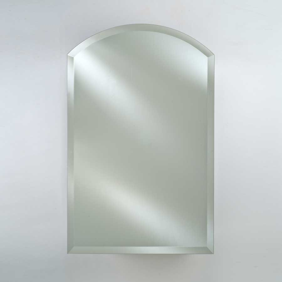 """Afina 16"""" Arch Top Wall Mount Mirrored Medicine Cabinet - Beveled SD-1622-ARC-BV"""